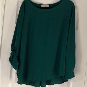 LOFT pleated back blouse